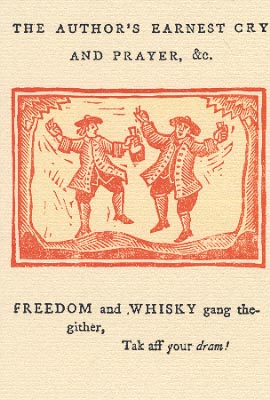 Freedom and Whisky postcard
