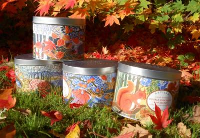 Autumn biscuit tins